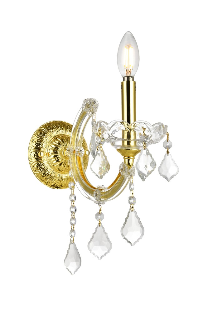 Maria Theresa 1 Light Gold Wall Sconce Clear Swarovski Elements